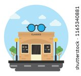 opticals on a shop are... | Shutterstock .eps vector #1165340881