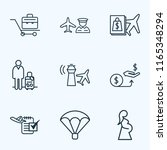 airport icons line style set... | Shutterstock .eps vector #1165348294