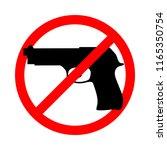 symbol or sign stop guns. gun... | Shutterstock .eps vector #1165350754