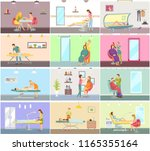 body wrapping and tanning in... | Shutterstock .eps vector #1165355164