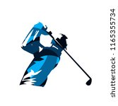 golf player  abstract blue... | Shutterstock .eps vector #1165355734