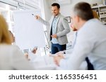 presentation and training in... | Shutterstock . vector #1165356451