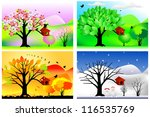 vector illustration of four... | Shutterstock .eps vector #116535769