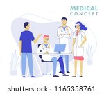 medicine teamwork concept with... | Shutterstock .eps vector #1165358761