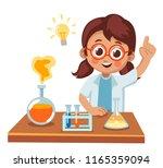 cute little girl made a...   Shutterstock .eps vector #1165359094