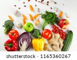 flat lay composition with diet... | Shutterstock . vector #1165360267