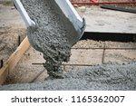 Concrete Truck Chute Pouring...