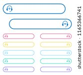 wireless headset icons in... | Shutterstock .eps vector #1165366741