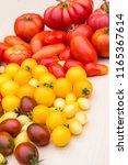 tomato biodiversity background | Shutterstock . vector #1165367614