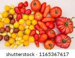 tomato biodiversity background | Shutterstock . vector #1165367617