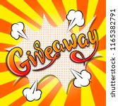 giveaway banner  lettering ... | Shutterstock .eps vector #1165382791