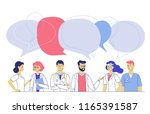 medicine team concept with... | Shutterstock .eps vector #1165391587
