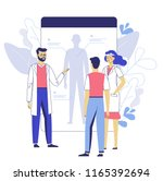 online medical consultation... | Shutterstock .eps vector #1165392694