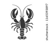 Lobster Silhouette Icon On...