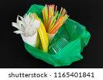 plastic waste danger ecology...   Shutterstock . vector #1165401841