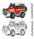 cartoon funny off road fire... | Shutterstock . vector #1165404967
