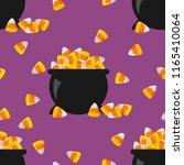 halloween seamless pattern with ... | Shutterstock .eps vector #1165410064