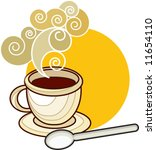 hot cup of coffee or tea - stock vector