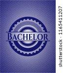 bachelor with denim texture | Shutterstock .eps vector #1165411207