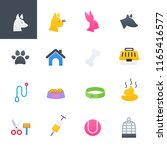 pets colorful icons set  vector ... | Shutterstock .eps vector #1165416577