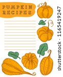 hand drawn vector template for... | Shutterstock .eps vector #1165419247