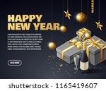 happy new year 2019 place for... | Shutterstock .eps vector #1165419607