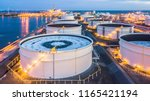 aerial view oil terminal is... | Shutterstock . vector #1165421194