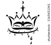 crown with a bird  a cross and... | Shutterstock . vector #1165421341