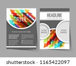 illustration of brochure flyer... | Shutterstock .eps vector #1165422097