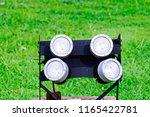 close up of led spotlights in... | Shutterstock . vector #1165422781