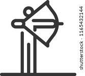 archery  bold line stick figure ... | Shutterstock .eps vector #1165432144