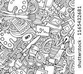 cartoon cute doodles hand drawn ... | Shutterstock .eps vector #1165432681