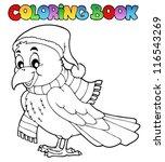 coloring book cartoon raven  ... | Shutterstock .eps vector #116543269