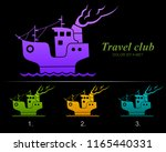travel club abstract logo... | Shutterstock .eps vector #1165440331
