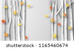 illustration of autumn with... | Shutterstock .eps vector #1165460674