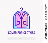 suit from dry cleaning thin...   Shutterstock .eps vector #1165464094