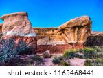 red rock canyon sandstones... | Shutterstock . vector #1165468441
