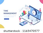 time management banner with... | Shutterstock . vector #1165470577