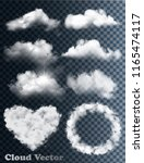 transparent set of cloud vectors | Shutterstock .eps vector #1165474117