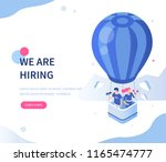 we are hiring concept with... | Shutterstock . vector #1165474777