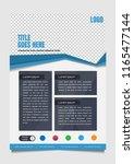 modern business poster or flyer ... | Shutterstock .eps vector #1165477144
