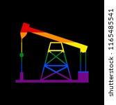 oil drilling rig sign. vector....   Shutterstock .eps vector #1165485541