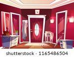 hallway room or corridor... | Shutterstock .eps vector #1165486504