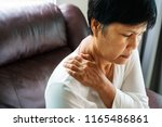 neck and shoulder pain  old... | Shutterstock . vector #1165486861