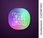 qr code scanner app icon. quick ...