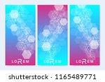 scientific set of modern vector ... | Shutterstock .eps vector #1165489771