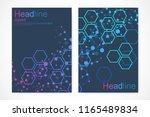 minimal brochure templates ... | Shutterstock .eps vector #1165489834