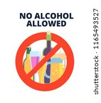 no alcohol sign. alcoholic... | Shutterstock .eps vector #1165493527