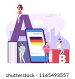learning foreign language.... | Shutterstock .eps vector #1165493557