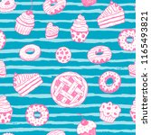 seamless vector pattern with... | Shutterstock .eps vector #1165493821